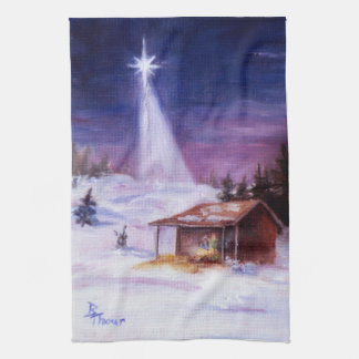 Away In a Manger American MoJo Kitchen Towels