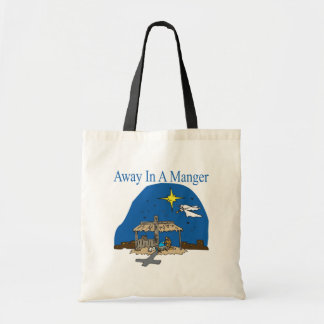 Away In A Manger Tote Bags