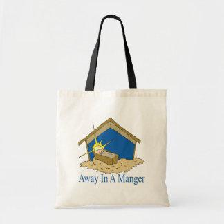 Away In A Manger Canvas Bag