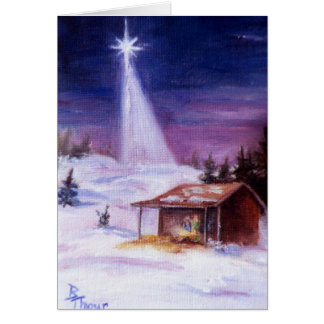 Away In a Manger Blank Card