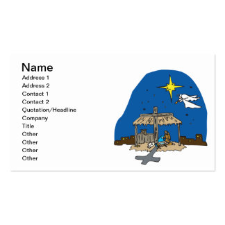 Away In A Manger Business Card Templates