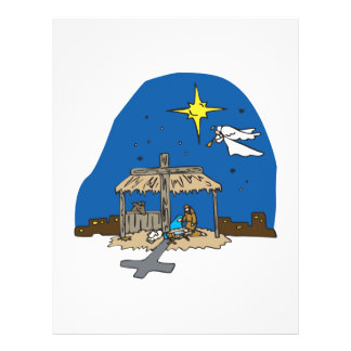 Away In A Manger Personalized Flyer
