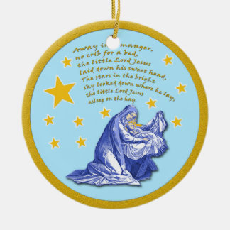 Away in a Manger Holiday Christmas Ornament