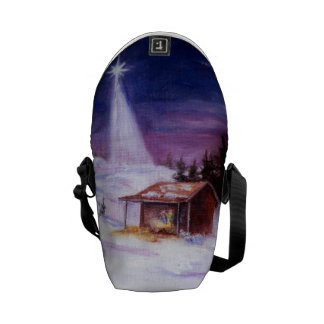 Away In a Manger Mini Messenger Bag