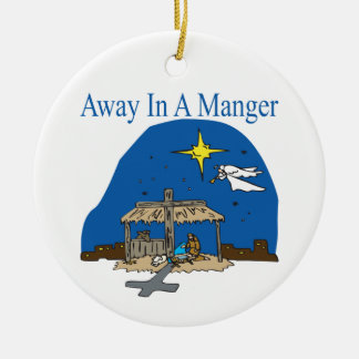 Away In A Manger Christmas Ornaments