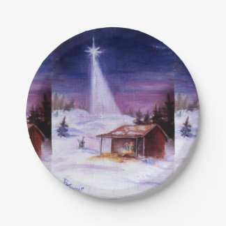 Away In a Manger Paper Plate