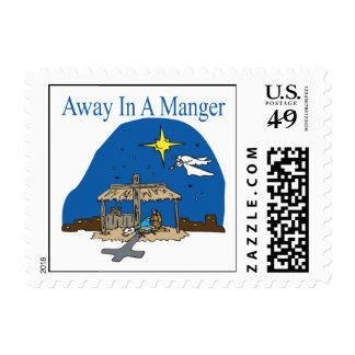 Away In A Manger Stamp