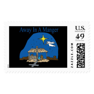 Away In A Manger Postage Stamp