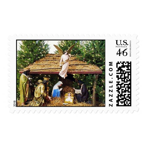 Away in a Manger Postage Stamps