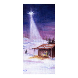 Away In a Manger Rack Card