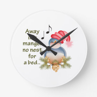 AWAY IN A MANGER ROUND CLOCK