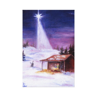 Away In A Manger Wrapped Canvas Print