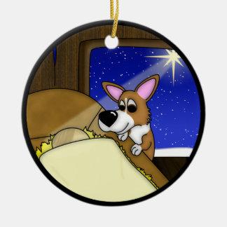 Away in the Manger Corgi Christmas Ornament