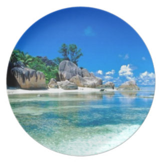 AWAY TO PARADISE PARTY PLATE