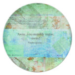 Away, you mouldy rogue, away! Shakespeare Insult Plates