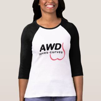 AWD Loves Curves Pink Front T Shirt