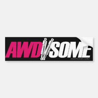 Awdsome stickers pink logo 3 bumper stickers