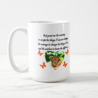 AWE INSPIRING BUTTERFLY SERENITY PRAYER PHOTO COFFEE MUG