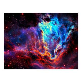 Awe-Inspiring Color Composite Star Nebula Postcard