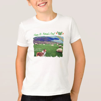 Awe Inspiring Ireland Coast  with Collie & Sheep T-Shirt