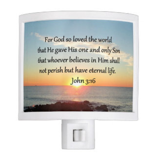AWE-INSPIRING JOHN 3:16 SUNRISE NIGHT LIGHT