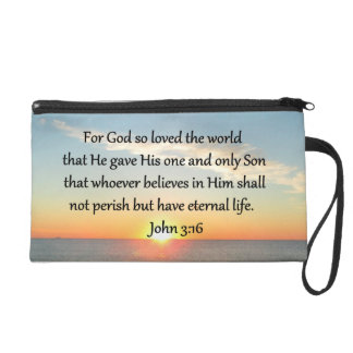 AWE-INSPIRING JOHN 3:16 SUNRISE WRISTLET PURSE