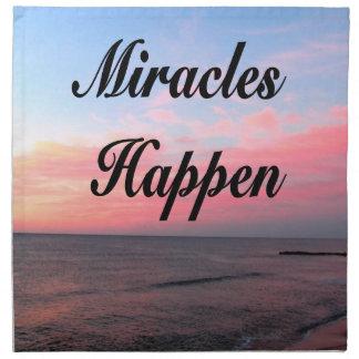 AWE INSPIRING MIRACLES HAPPEN SUNRISE PHOTO NAPKIN