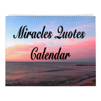 AWE-INSPIRING MIRACLES QUOTES CALENDAR