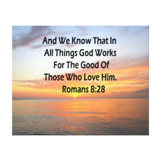 AWE-INSPIRING ROMANS 8:28 SCRIPTURE VERSE CANVAS PRINT