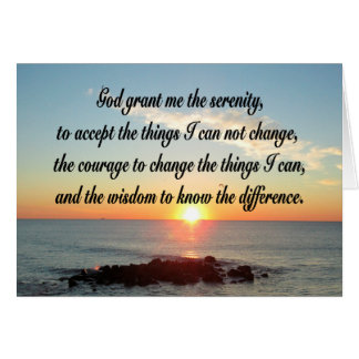 AWE INSPIRING SERENITY PRAYER DESIGN CARD