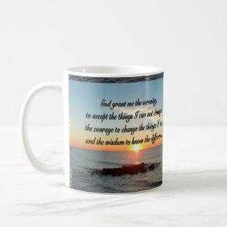 AWE INSPIRING SERENITY PRAYER DESIGN COFFEE MUG