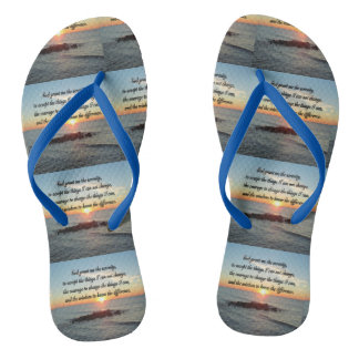 AWE INSPIRING SERENITY PRAYER DESIGN FLIP FLOPS