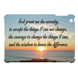 AWE INSPIRING SERENITY PRAYER DESIGN iPad MINI COVERS