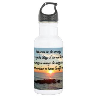 AWE INSPIRING SERENITY PRAYER DESIGN STAINLESS STEEL WATER BOTTLE