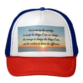 AWE INSPIRING SERENITY PRAYER DESIGN TRUCKER HAT