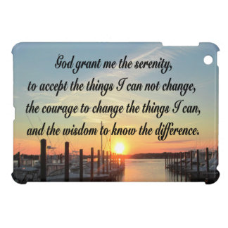 AWE-INSPIRING SERENITY PRAYER SUNSET PHOTO DESIGN iPad MINI COVER