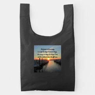 AWE-INSPIRING SERENITY PRAYER SUNSET PHOTO DESIGN REUSABLE BAG