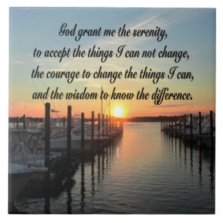 AWE-INSPIRING SERENITY PRAYER SUNSET PHOTO DESIGN TILE