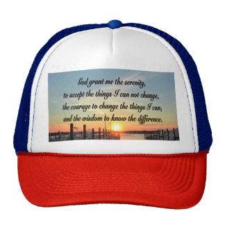 AWE-INSPIRING SERENITY PRAYER SUNSET PHOTO DESIGN TRUCKER HAT