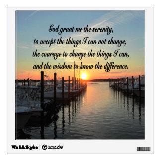 AWE-INSPIRING SERENITY PRAYER SUNSET PHOTO DESIGN WALL STICKER