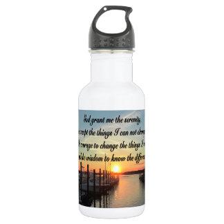 AWE-INSPIRING SERENITY PRAYER SUNSET PHOTO DESIGN WATER BOTTLE