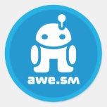 awe.sm-o Sticker (Blue)