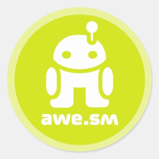 awe.sm-o Sticker (Green)