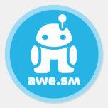 awe.sm-o Sticker (Light Blue)
