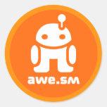 awe.sm-o Sticker (Orange)