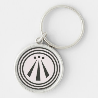 Awen Silver-Colored Round Keychain