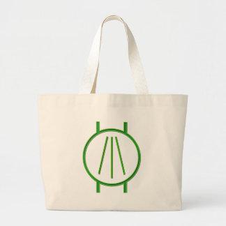 Awen Neon Green Large Tote Bag