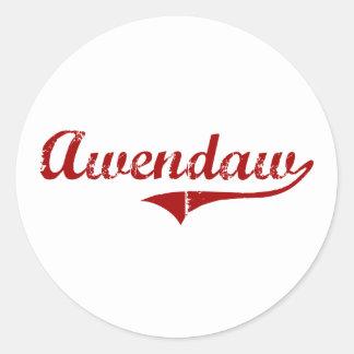 Awendaw South Carolina Classic Design Round Stickers