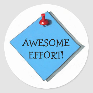 """AWESEOME EFFORT"" Faux Memo: STICKERS"