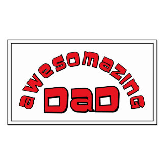 AWESOMAZING DAD 1 BUSINESS CARD TEMPLATE
